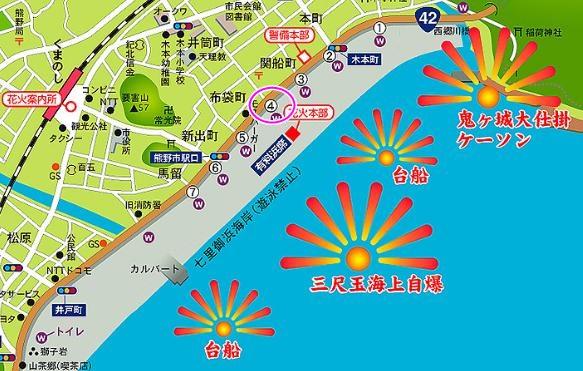 熊野大花火大会2019の穴場スポット:「ゲート4」
