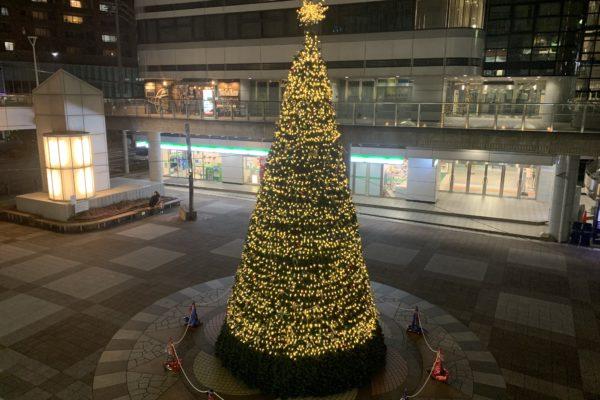 春日井市勝川駅のクリスマスイルミネーション2020の画像を紹介!アクセスや素敵なお店情報も!